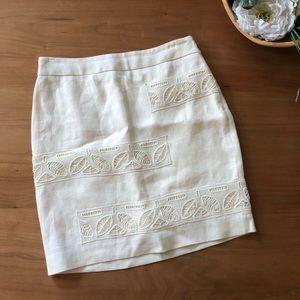Moulinette Soeurs Cream Linen Skirt